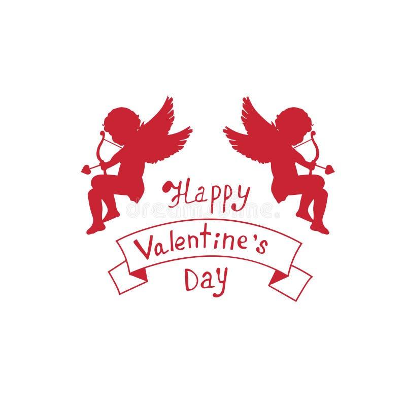 Begrepp för dag för valentin` s cupid vektor illustrationer
