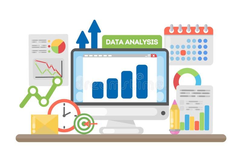 Begrepp för dataanalys vektor illustrationer