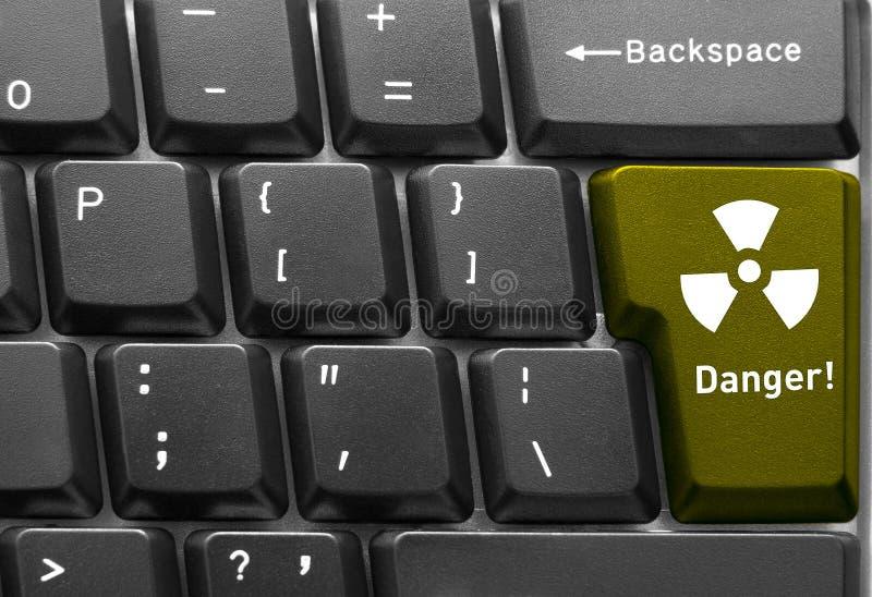 Begrepp för datortangentbord royaltyfri bild