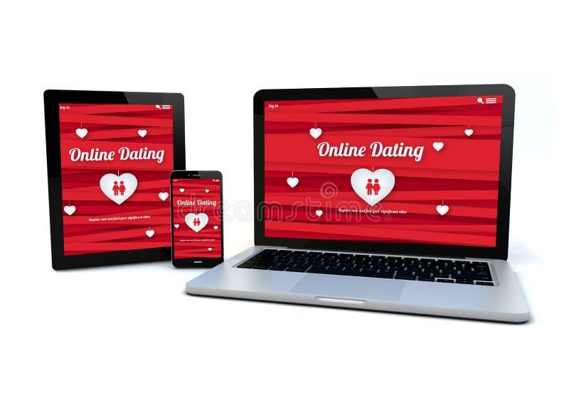 Begrepp för datummärkning för svars- designwebsite online- royaltyfri illustrationer