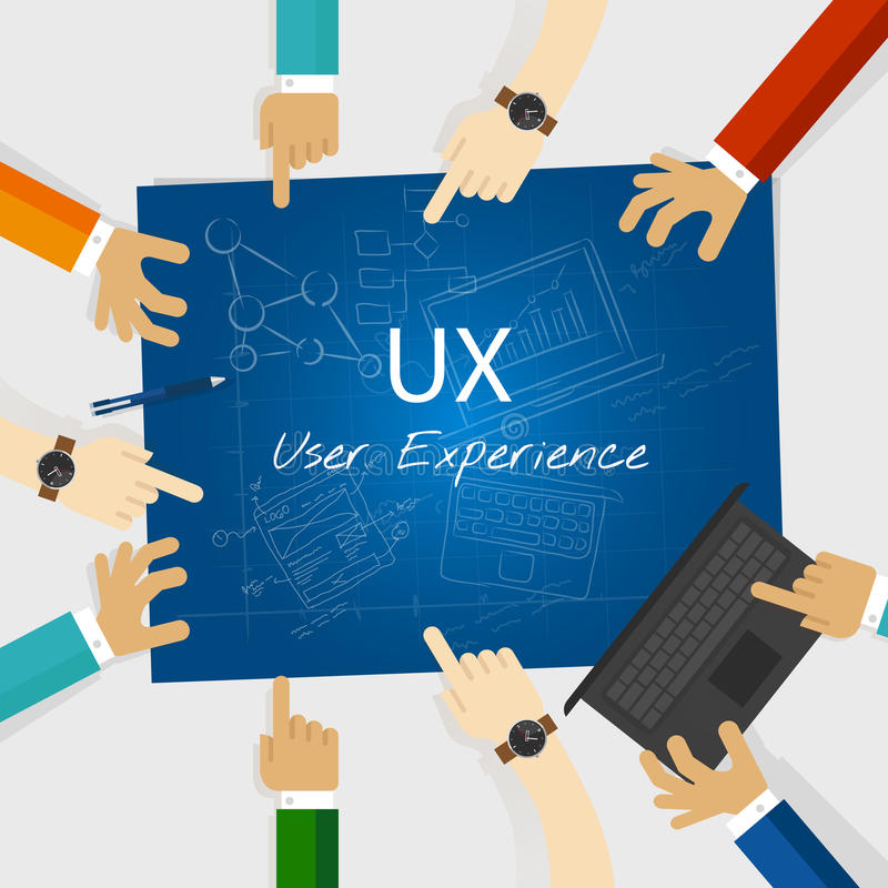 Begrepp för design för rengöringsduk för UX användareerfarenhet vektor illustrationer