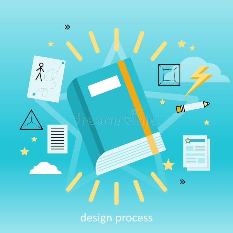 Begrepp för designprocess royaltyfri illustrationer