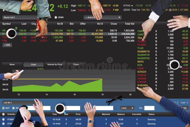 Begrepp för diagram för finans för börshandelForex royaltyfri illustrationer