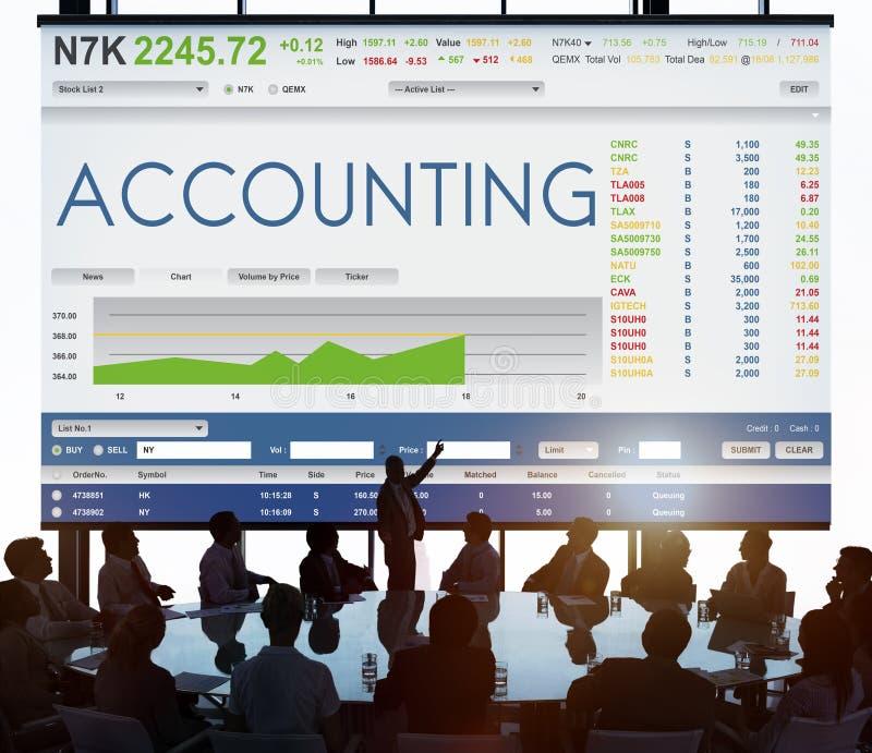 Begrepp för diagram för finans för börshandelForex arkivbild