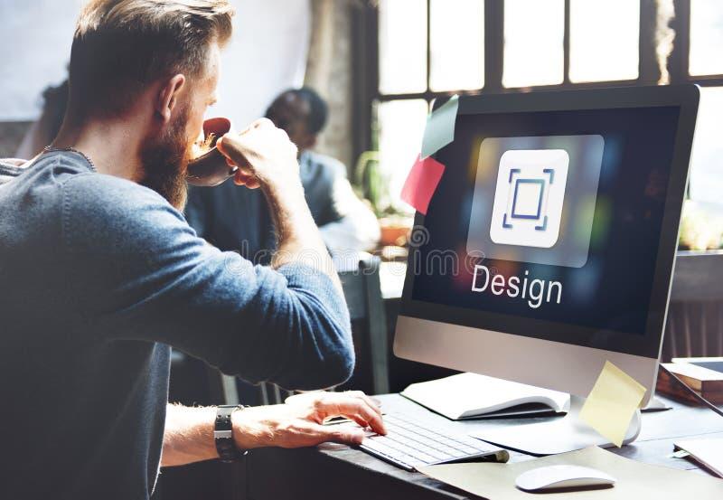 Begrepp för diagram för innovation för applikationdesignidéer royaltyfri foto