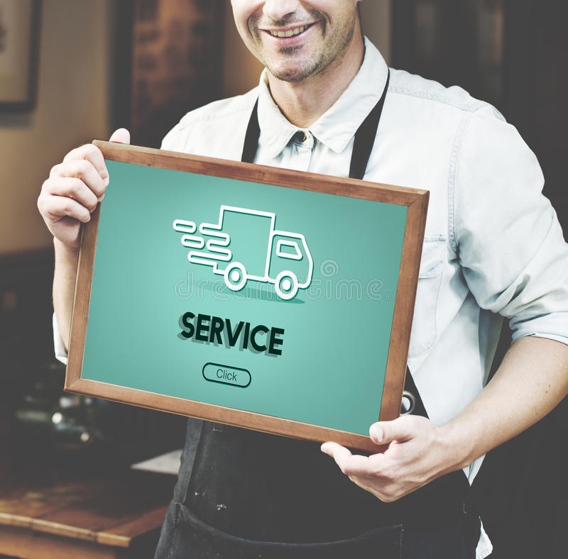Begrepp för diagram för lastbil för importexportsändning fotografering för bildbyråer