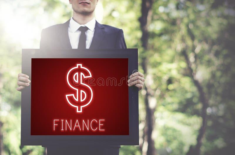 Begrepp för diagram för symboler för finansinvesteringpengar kontant arkivfoton