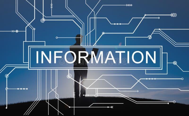 Begrepp för diagram för informationsströmkretsbräde stock illustrationer