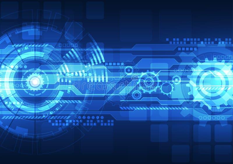 Begrepp för digital teknologi för vektor, abstrakt bakgrund stock illustrationer