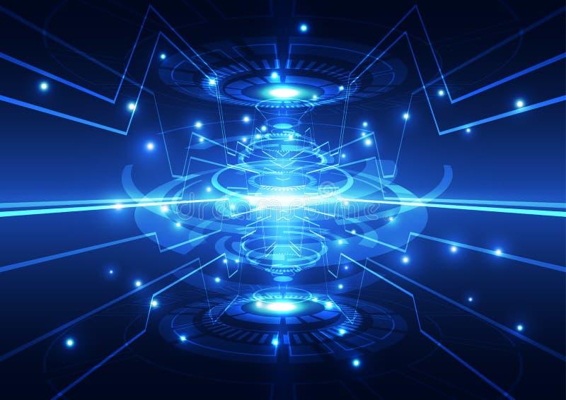 Begrepp för digital teknologi för vektorillustration högteknologiskt, abstrakt bakgrund royaltyfri illustrationer