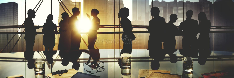 Begrepp för diskussion för funktionsdugligt möte för folk för affärskontor arkivbild