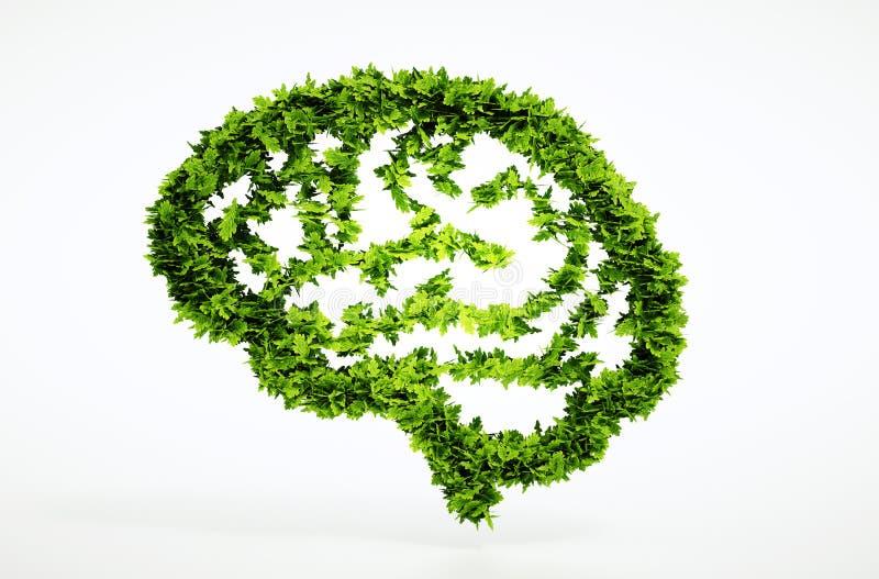 Begrepp för Eco naturintelligens royaltyfri illustrationer