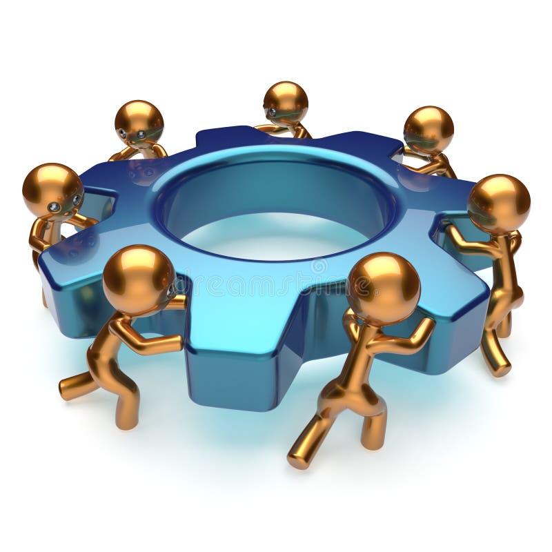 Begrepp för effektivitet för arbetskraft för teamworkaffärsprocess vektor illustrationer