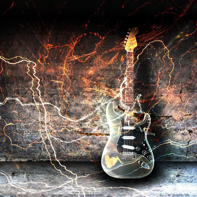 Begrepp för elektrisk gitarr royaltyfri illustrationer