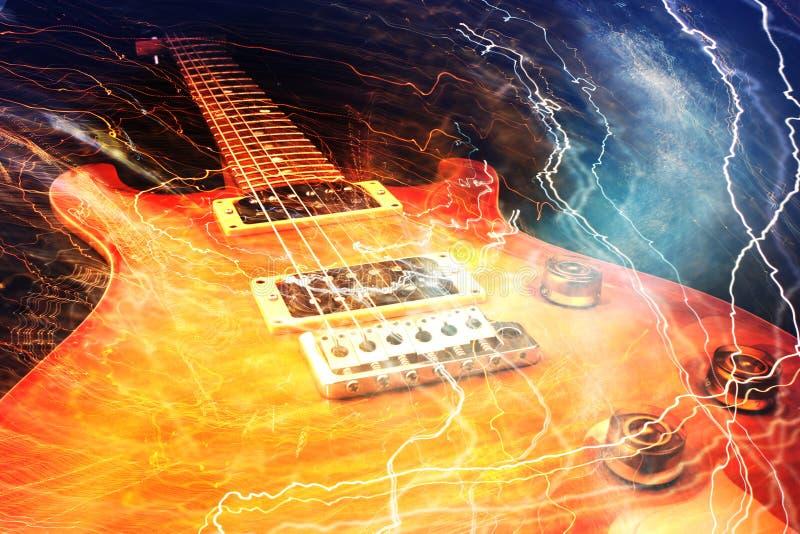 Begrepp för elektrisk gitarr stock illustrationer
