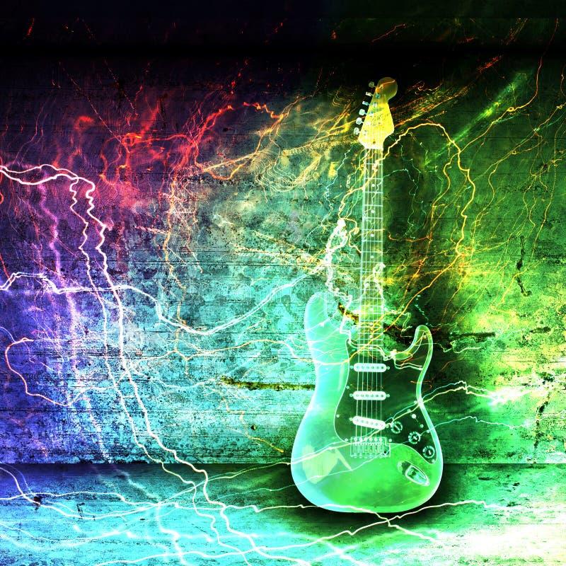 Begrepp för elektrisk gitarr vektor illustrationer
