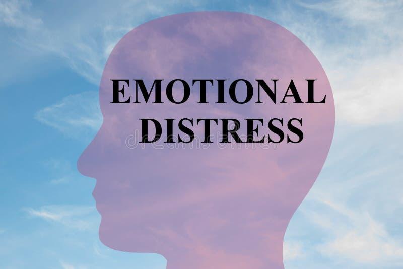 Begrepp för emotionellt nödläge royaltyfri illustrationer