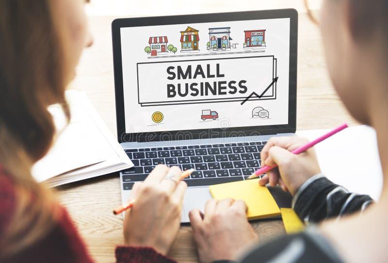 Begrepp för företag för marknadsföring för små och medelstora företagstrategi royaltyfri foto