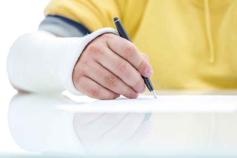 Begrepp för försäkringreklamation royaltyfri foto