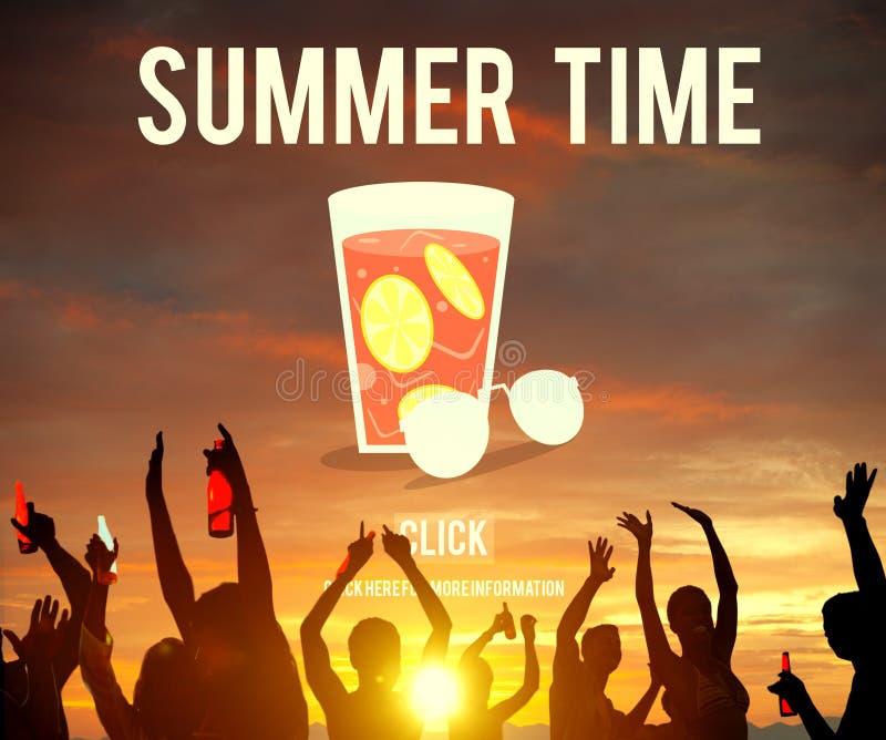Begrepp för ferie för sommarTid semester fotografering för bildbyråer
