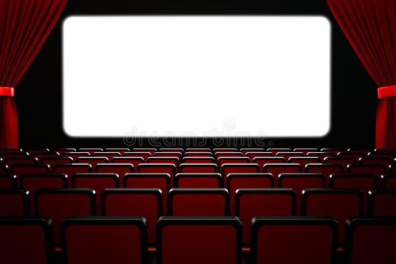 Begrepp för filmfilmpremiär och showkapacitets stock illustrationer