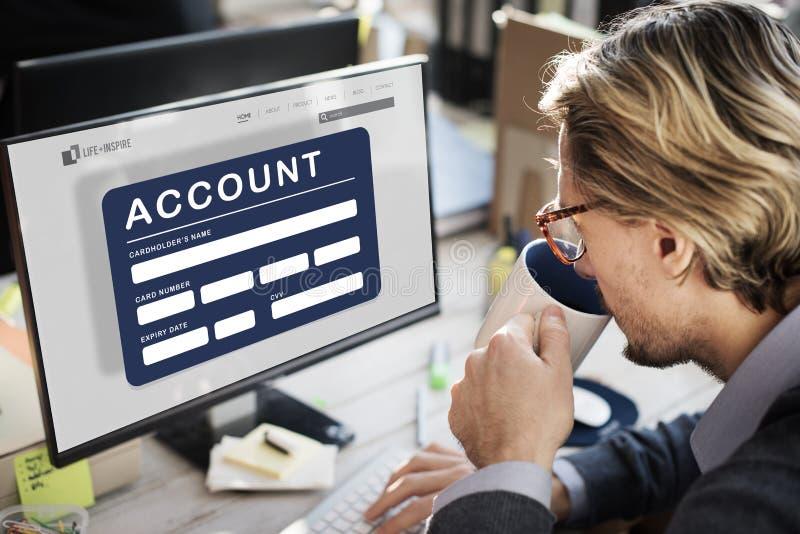 Begrepp för finans för bank för kontoATM-kort arkivbild