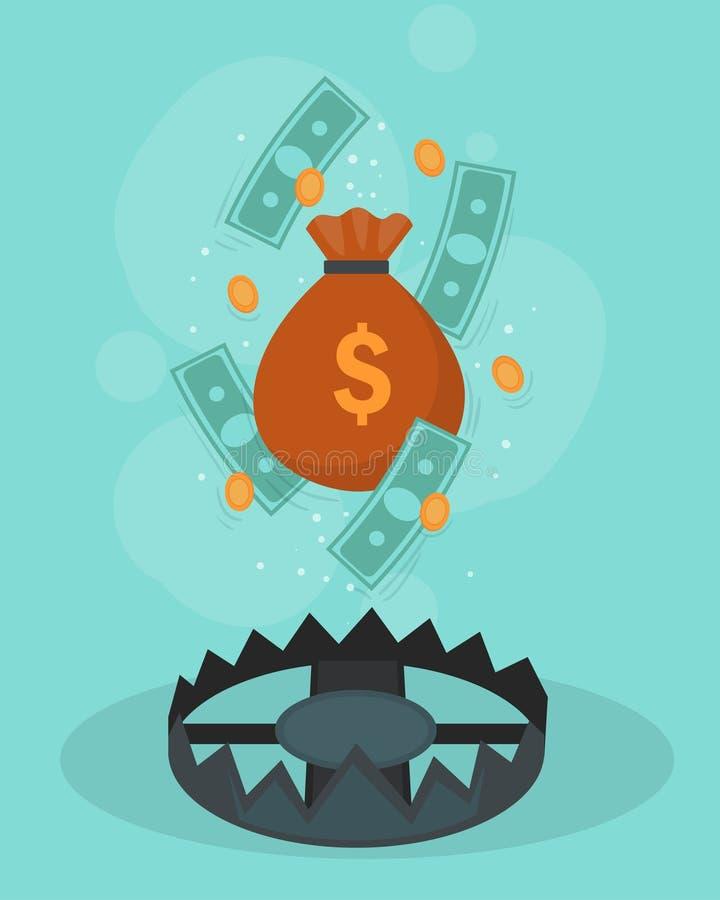 Begrepp för finanskrisdesignaffisch vektor illustrationer