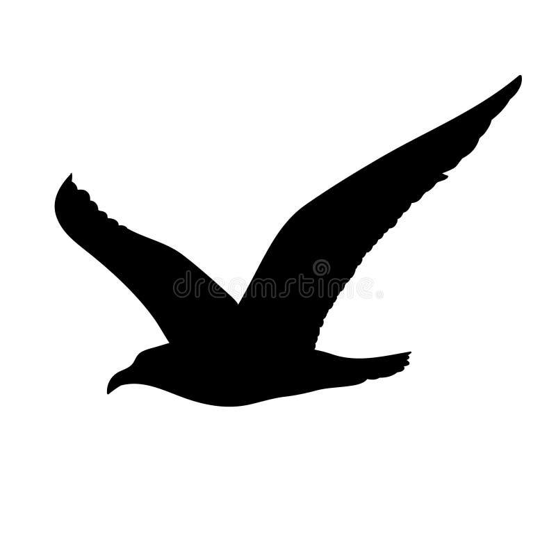 Begrepp för flygSeagullkontur royaltyfri illustrationer