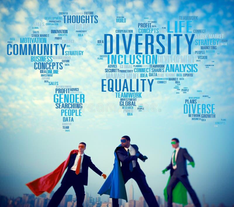 Begrepp för folk för affär för mångfaldgemenskapbefolkning arkivbild