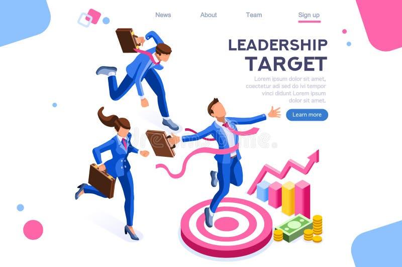 Begrepp för folk för framåt ledarskap för mål körande stock illustrationer