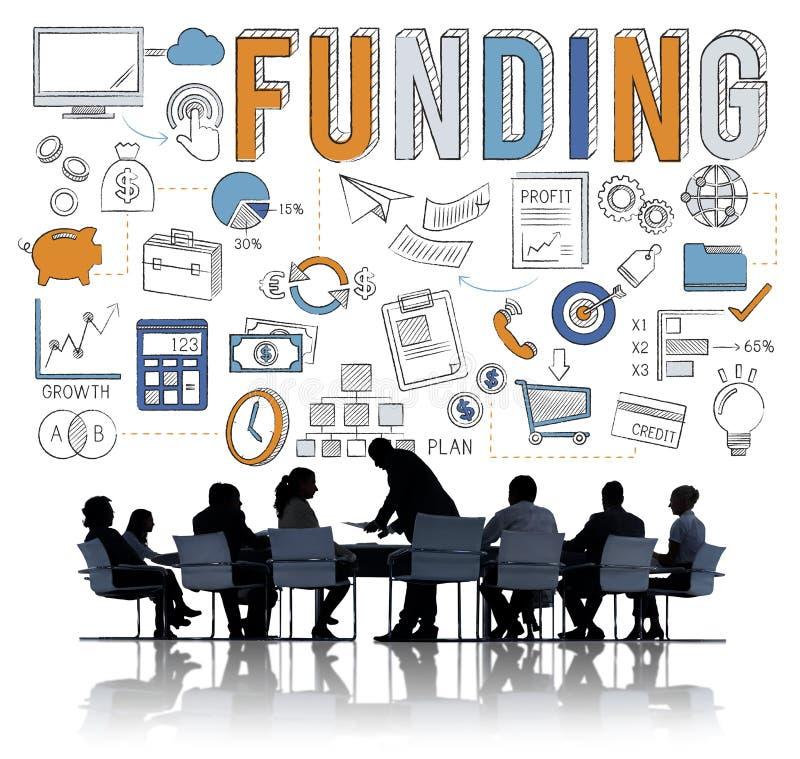 Begrepp för fond för samling för finansieringekonomi finansiellt royaltyfri fotografi