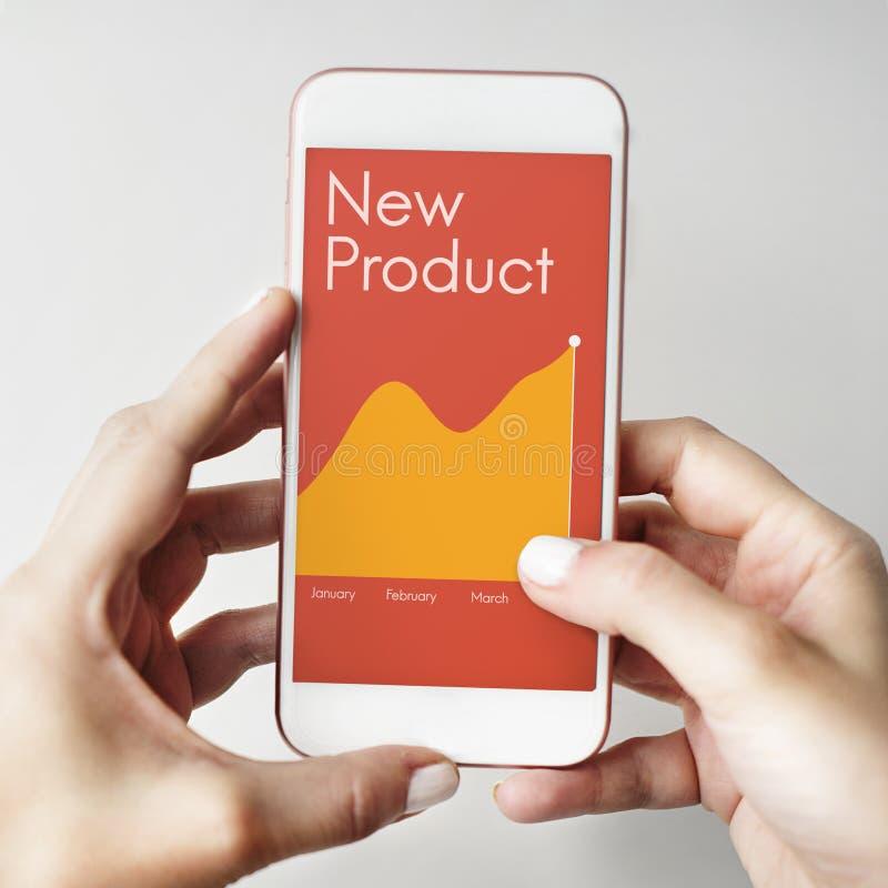 Begrepp för framgång för ny produktutveckling royaltyfri bild