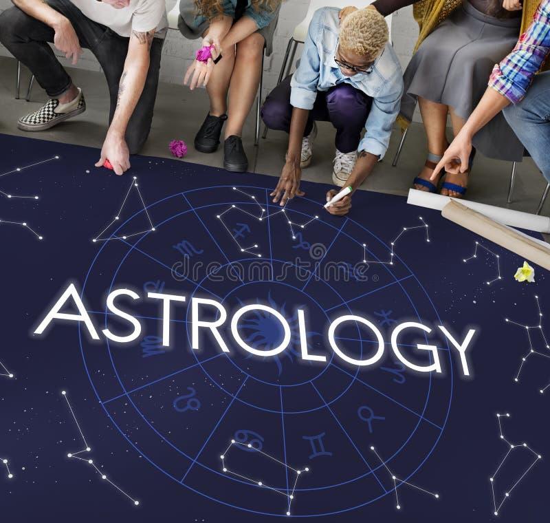 Begrepp för galax för fantasi för astrologikometkonstellation royaltyfri foto