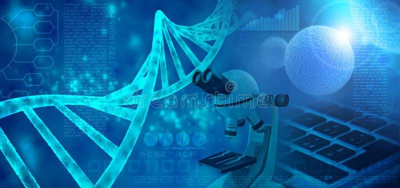 Begrepp för genetisk forskning stock illustrationer