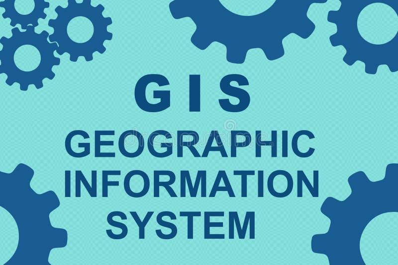 Begrepp för GIS (SYSTEM för GEOGRAFISK INFORMATION) royaltyfri illustrationer