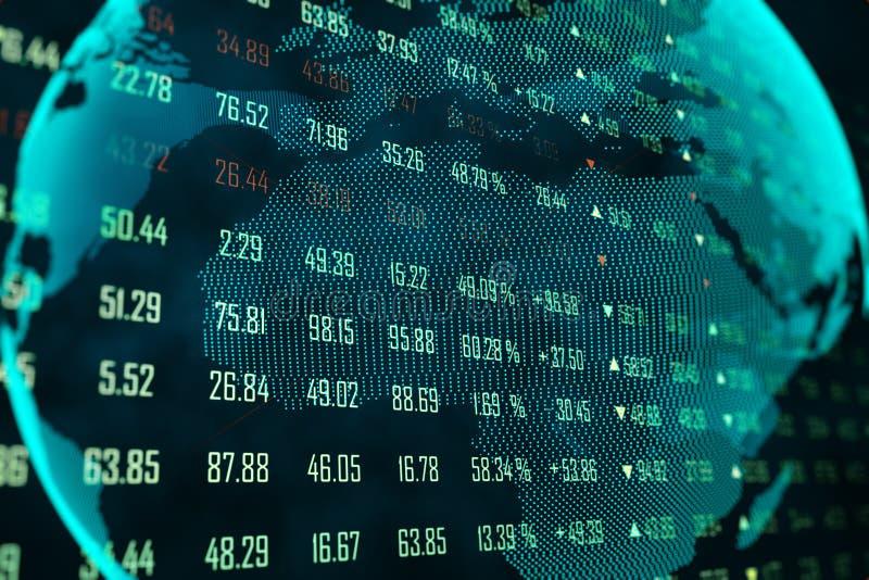 Begrepp f?r globalt n?tverk och handel stock illustrationer