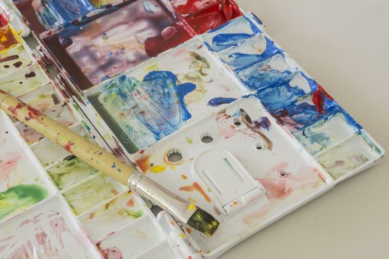 Begrepp för gyckel för lek för unge för utbildning för konstvattenfärg arkivbilder