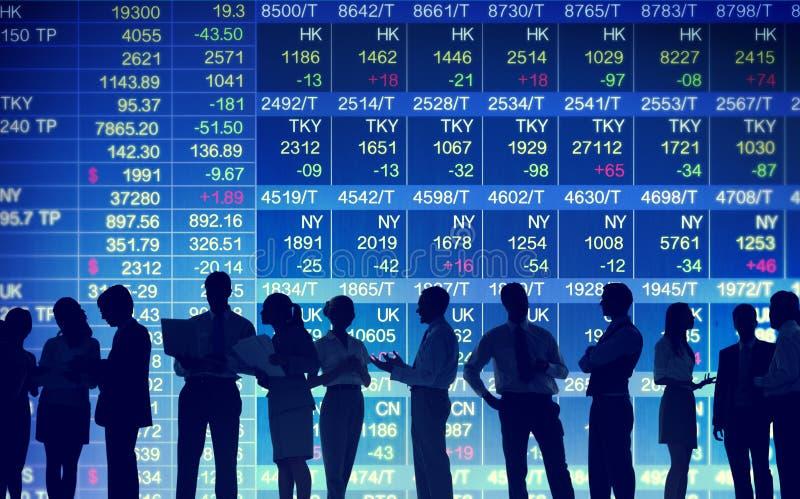 Begrepp för handel för börsmarknad arkivfoto