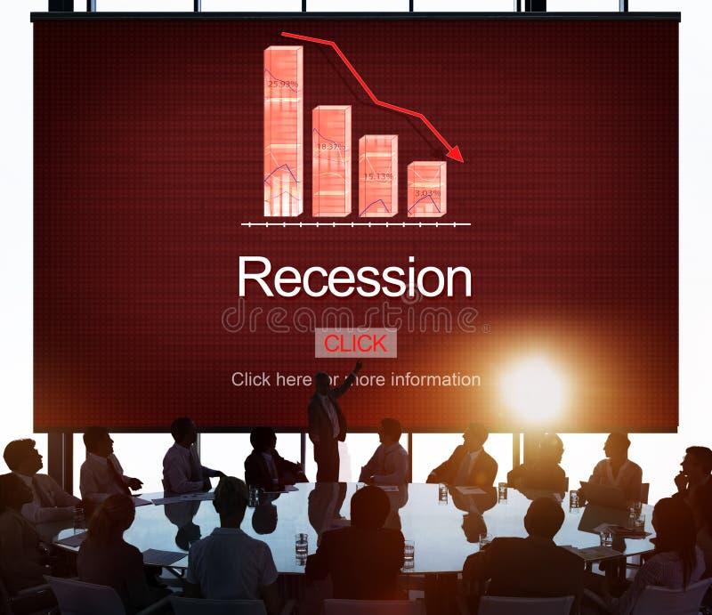 Begrepp för handel för besparingar för bankrutt för nedgångkrisinflation royaltyfri foto