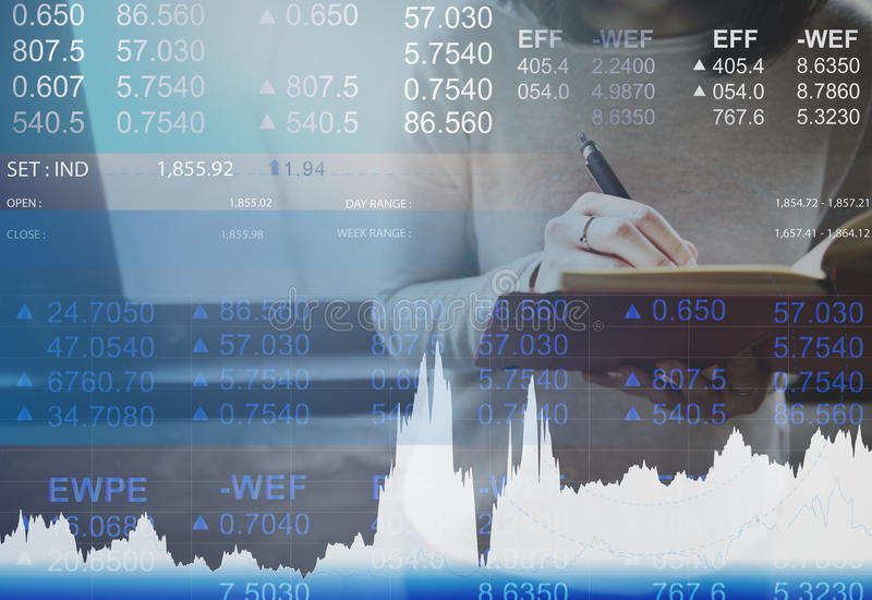 Begrepp för handel för marknad för finansvalutabankrörelsen royaltyfri fotografi