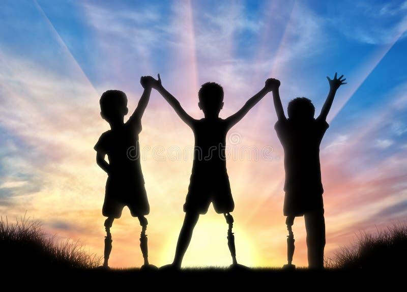 Begrepp för handikapp för barn` s royaltyfri fotografi