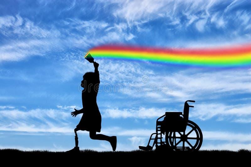 Begrepp för handikapp för barn` s royaltyfria foton