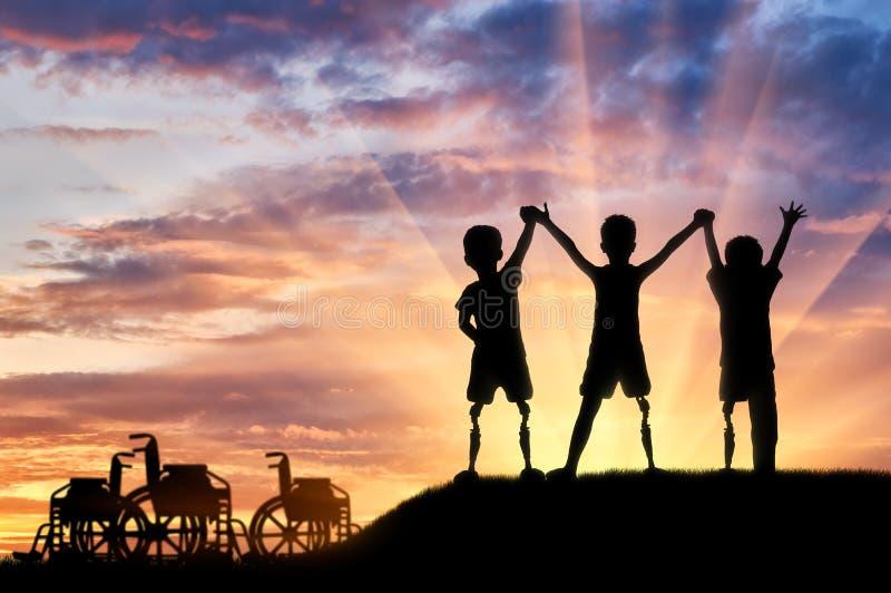 Begrepp för handikapp för barn` s royaltyfri bild