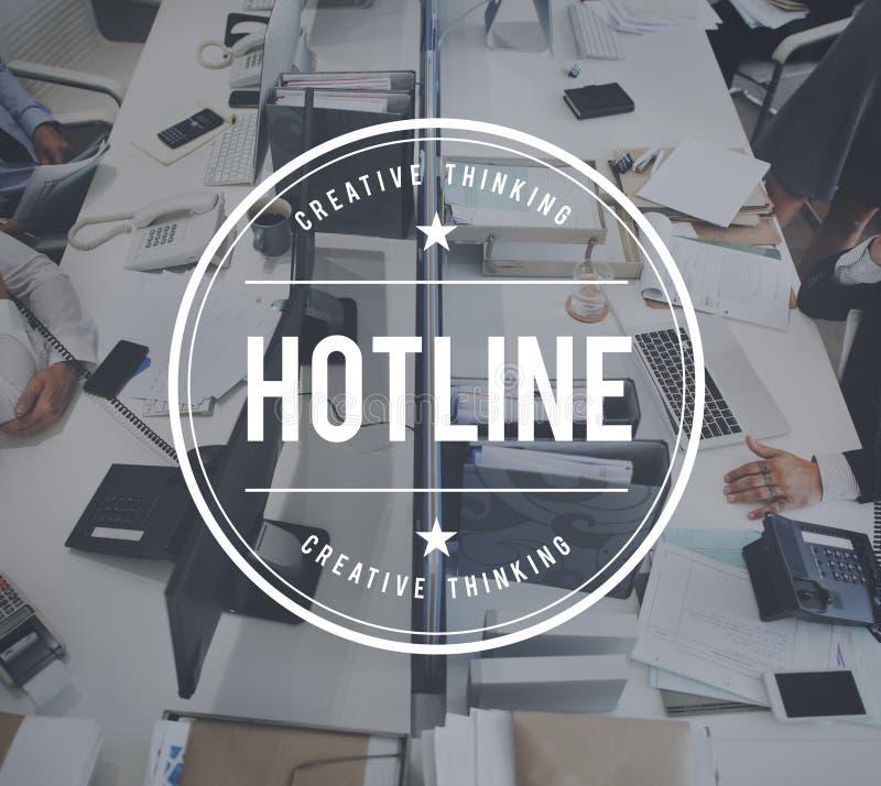 Begrepp för Helpline för heta linjenkundtjänsthandbok arkivbilder