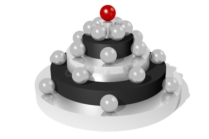 begrepp för HIERARKI 3D royaltyfri illustrationer