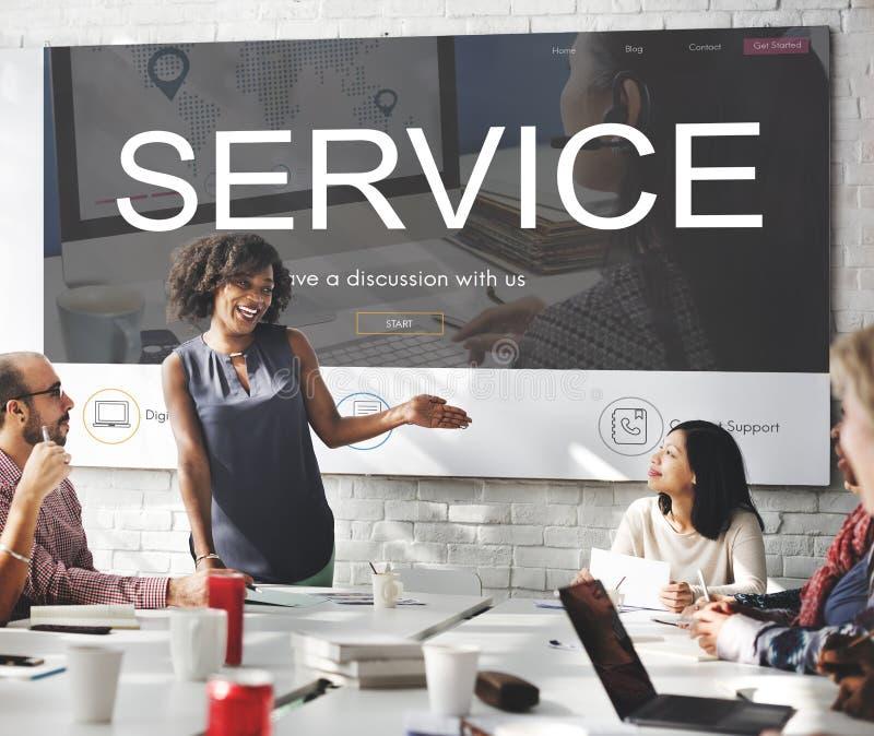 Begrepp för hjälp för service för kontaktregisteråterkoppling royaltyfria bilder