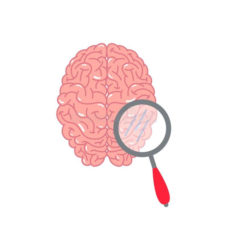 Begrepp för hjärnprovvektor stock illustrationer