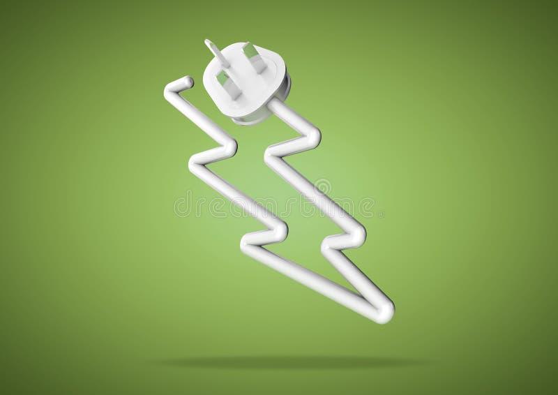 Begrepp för hur vi litar på elektricitet för att driva vårt elektriska a stock illustrationer
