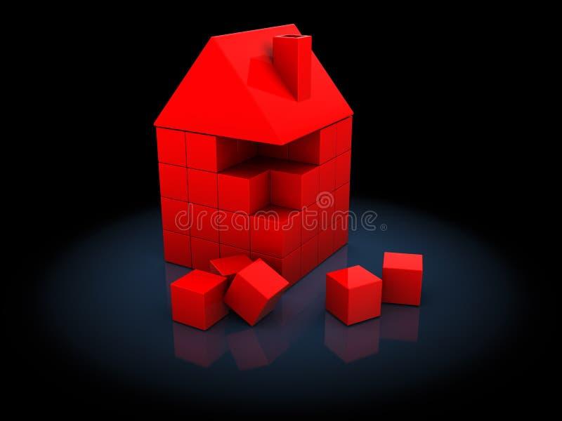 Begrepp för husbyggnad stock illustrationer
