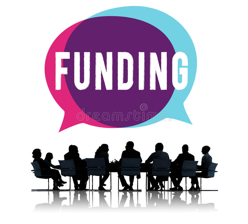 Begrepp för huvudstad för budget för finansieringdonationinvestering stock illustrationer